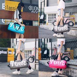 Custom tools online shopping - Oxford Big Size Waterproof Pink Handbag Outdoor Travel Sports Zipper Yoga Unisex Fashion Storage Bag Custom bg hh