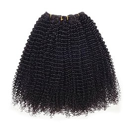6a Kinky Curly Hair Weave NZ - 100% Brazilian Human Hair Weaving 6a Black Color Kinky Curly 1 Bundles Brazilian Virgin Unprocessed Hair Extensions