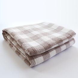 $enCountryForm.capitalKeyWord UK - New 2018 Throw Blanket - 1piece 200*230cm Cotton Plaid Blanket Three Layers Gauze Brand Adult Super Soft Star Blankets