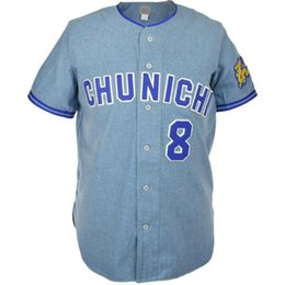 Wholesale dragon customs for sale – custom Chunichi Dragons Road Jersey Stitched Embroidery Logos Vintage Baseball Jerseys Custom Any Name Any Number