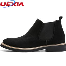Male style boots online shopping - Handmade Flock Luxury Style Boots Men Suede Leather Shoes Mens Party Wedding Dress Elastic Band Designed Shoe Male Botas