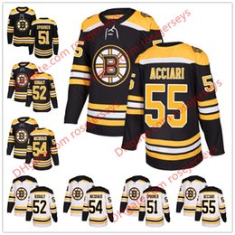 Boston Bruins  55 Noel Acciari 51 Ryan Spooner 52 Sean Kuraly 54 Adam  McQuaid 2018 New Black Home White Stitched Hockey Jerseys S-60 2f9b1c955