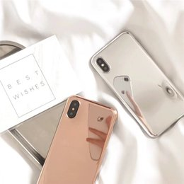 Iphone 6s Mirror Case Canada - Silver Gold Mirror Phone Case for iphone X 8plus Shockproof Soft TPU Back Cover for iphone 8 6 6s 7 plus