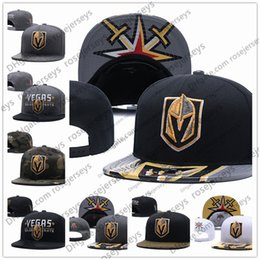 Beanies Black yellow online shopping - Vegas Golden Knights Ice Hockey Knit Beanies Embroidery Adjustable Hat Embroidered Snapback Caps Black Gray White Stitched Hats One Size