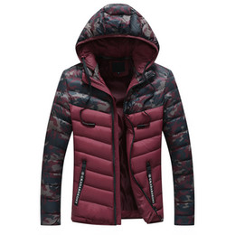 8be531012cd Winter Jacket Men 2018 camouflage Patchwork Thick Hooded Jackets Parka Male Slim  Removable hat Coat Asia size M-3XL