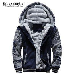 $enCountryForm.capitalKeyWord NZ - Drop shipping US SIZE Men Hoodies Sweatshirts Men's Zip up Camouflage Jackets Winter Thick Fleece Warm Coats Accept Custom made
