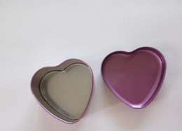 tin boxes wholesale NZ - MOQ 500 pcs 1 color Heart Metal Coins Candy Case Makeup Jewelry Tin Box Candy Organizer lin3990