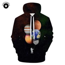 $enCountryForm.capitalKeyWord NZ - 2018 3D Hoodies Sweatshirts Men Space Astronaut Planet Balloon Funny Print Streetwear Plus Size Pullover Tops Brand Tracksuits