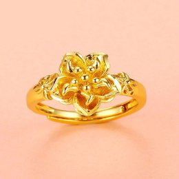 $enCountryForm.capitalKeyWord Australia - MGFam (248R) Flower Rings ( adjusted ) Jewelry For Bridal Happiness 24k Pure Gold Plated Wedding Jewelry