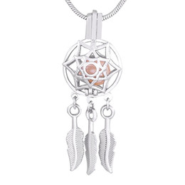 online shopping Plated Silver Dreamcatcher Cage Pendants lucky Fashion pack of birthday gift P161