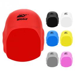 Hair Swimming NZ - 7Colors Adult Silicone Waterproof 3D Elastic Swimming Caps For Women Long Hair Swimming Hat Cover Ear Bone Pool Swim Cap