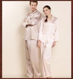 d55c3065b9 Men Real Silk Pajamas Women High Quality 100% Mulberry Silk Long-Sleeved Pajama  Pants Sets Male Pyjama Lounge Set for Couples