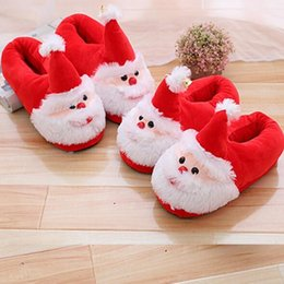 warm slipper shoes 2019 - Winter Christmas Slipper Non Slip Keep Warm Indoor Floor Shoes Soft Cotton New Santa Claus Slippers Xmas Home Shoes CCA1