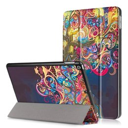 Wholesale For New ipad inch Print Leather Cover Case Trifold Magnetic Auto Sleep Awake Case with Stand
