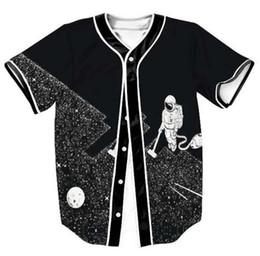 New Mens T-shirt Summer Style Unisex Hipster Hip Hop Coffee Printed  Baseball Jersey Casual 3D Open T Shirt 7625b3496