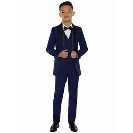 Image Boys Dress NZ - 2019 Cheap Boys Blazers Kids Boy Suits for Weddings Prom Suits Formal Dress for Boys Kids Tuxedo Children Clothing Set (Jacket+Pants+Vest)