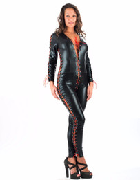 $enCountryForm.capitalKeyWord Canada - Factory Price Sexy Faux Leather Catsuit Jumpsuit Bodysuit Playsuit Overalls Women Rompers Jumpsuit Mature Clubwear