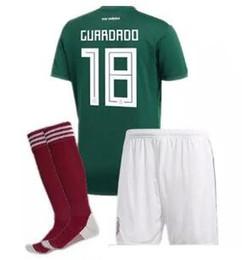 fac1b78cde9 2018 World Cup Mexico national team ADULT SET +socks Soccer Jerseys Uniform  Home Green Set G.Dos Santos CHICHARITO football