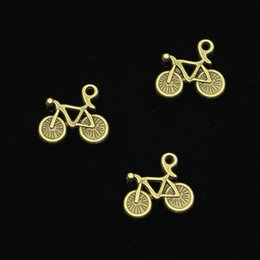 gold bicycle charm NZ - 120pcs Antique Bronze Plated bike bicycle Charms Pendant fit Bracelet Necklace Jewelry DIY Making Accessories 15*13mm