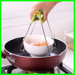 Wholesale Stainless Steel Foldable Hotproof Dish Blow Clamps Anti Scald Bowl Clips Plate Pot Gripper Kitchen Utensil Holder Kitchen Gadgets Tools