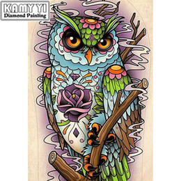"cute owl paintings 2019 - Full Drill Square Diamond 5D DIY Diamond Painting""Cute owl""Diamond Embroidery Cross Stitch Rhinestone Mosaic P"