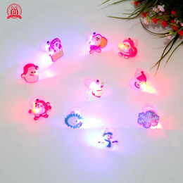 soft toys materials NZ - New children's children's Christmas toys cartoon luminous ring soft LED flash ring, mixed styles of various styles! Acrylic material!