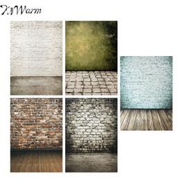 KiWarm Vintage Color de la pared de ladrillo Patrón de fondo Fotografía Telón de fondo decorativo Tela de tela Studio Photo Props Decor 5x7FT