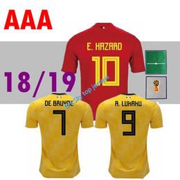 top thai 2018 2019 jersey home away THAI quality soccer jerseys DE BRUYNE E  HAZARD LUKAKU Belgium football shirt Camisetas de futbol jerseys 30592d98b