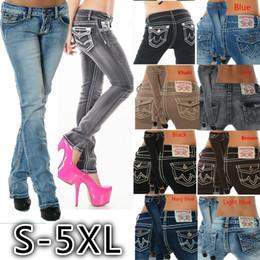 3a5f87d2371 2018 Mode Damen Jeans Tuyau Gerade Botte Droite Coupée À Rabat De Poche  Stretch Long Pantalon Leggings pour Femmes