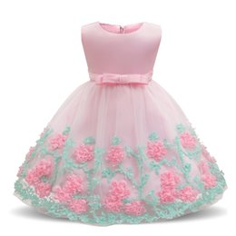 bb6458a682b4 Summer Baby Frocks Newborn Baby Girl Baptism Dresses for Flower Girls  Clothes 1 Year Birthday Tutu Infant Party Dress Girl 2T Y18102007