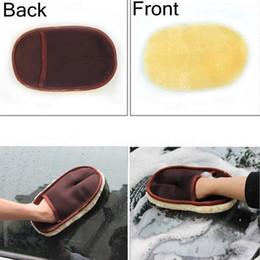 Уход за автомобилем Кисти для полировки Mitt Brush Super Clean Wool Car Wash Glove Мягкая уборочная машина EEA130