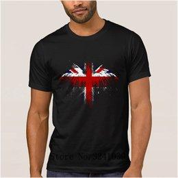 Impresión de los hombres de la camiseta de los hombres británicos gráfico de la camiseta de la pintura del águila de las letras camiseta de las letras tamaño grande del euro S-3xl color sólido en venta
