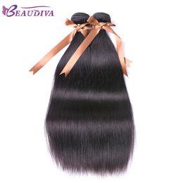 $enCountryForm.capitalKeyWord Australia - Beaudiva 2PCS brazilian hair weave bundles shedding free brazillian virgin straight hair 8A grade brazilian hair free shipping