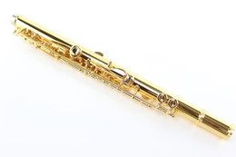 17 gold NZ - MARGEWATE MFL-500 High Quality 17 Hole Open C Tune E Key Flute Professional Musical Instruments Cupronickel Gold Plated Flute With Case