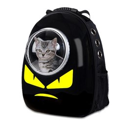 Cool Small Backpacks UK - Cartoon Space Capsule Design Pet Cat Carrier Backpacks Cool Shoulders Travel Bags Dog Outdoor Portable Package