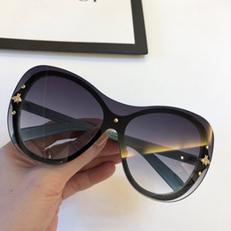 Plastic sunglasses online shopping - Luxury new Designer Sunglasses for women Hot sell Fashion Wild sunglasses Frameless crystal cutting Lens Glasses Top quality eyewear