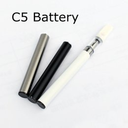 cigarette automatic battery 2019 - C5 Vape Battery 510 Automatic Preheat Batteries 350mAh for TH205 Ceramic Cartridges A3 Tank Electronic Cigarette e cig B