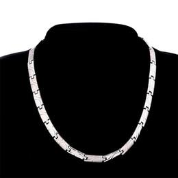 Patrón de onda punky de acero de titanio Oro Color de plata Bio Salud Elementos de germanio Collar de energía Enlace Cadena Gargantilla Collar Hombres Joyería de regalo en venta