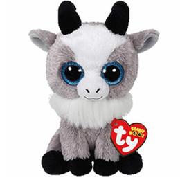 "$enCountryForm.capitalKeyWord UK - Ty Beanie Boos 6"" 15cm Gabby the Goat Plush Regular Soft Big-eyed Stuffed Animal Collection Doll Toy"