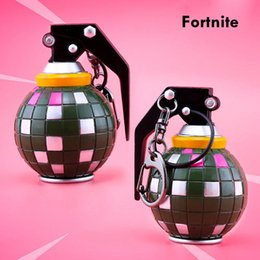Promotion gifts online shopping - 60mm Fortnite Alloy Game DANCE GRENADE Keyring Boogie Bomb Keychain Accessory Kids Toys Gift Fans Souvenir Party Favor AAA849