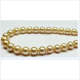 "perfect gold alloys Australia - NATURA 11-12MM SOUTH SEA GENUINE PERFECT ROUND GOLD PEARL NECKLACE 18""14k"