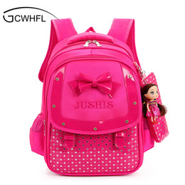 red satchel backpack for kids NZ - Cute Girls Backpacks Kids Satchel Children School Bags For Girls Orthopedic Waterproof Backpack Child School Bag Mochila Escolar