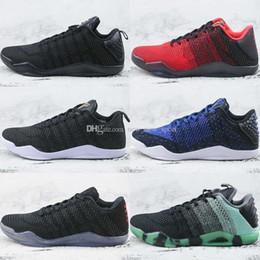 babcbee9bda 2018 New Kobe 11 Elite Low Mens Gold Black Mamba Oreo Basketball Shoes For Men  Kobe bryant 11s Trainers Designer Sneakers 7-12