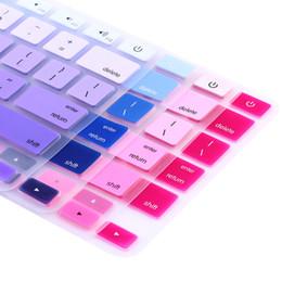 "Macbook Retina 13 Inches UK - Rainbow Silicone Keyboard Case Cover Skin Protector for iMac Macbook Pro 13"" 15"" retina Rainbow Protector US Euro Layout"