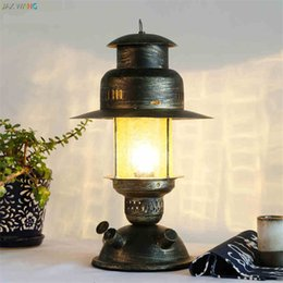 Iron Table Lamps For Living Room NZ - Chinese Iron Art Decoration vintage table lamps for living room Led Bed lamp bedside light table light lamps Tafellamp bedroom