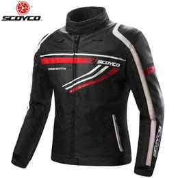 $enCountryForm.capitalKeyWord Australia - SCOYCO Motorcycle PU Jacket With 7pc Full Body Protection Gears Clothing Motocross Four Season Windproof Riding Armor JK37