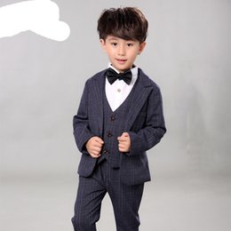 9891512b8a96 Children Performance Clothes Brand Boys Formal Suits Wedding Birthday Party Tuxedo  Jacket Waistcoat Shirt Pant Kids Blazer