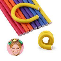 $enCountryForm.capitalKeyWord Australia - 20 pcs set Hair Curling Flexi rods DIY Soft Twist Foam Bendy Hair Rollers Magic Plastic Hair Curlers Spiral Diameter 1.6cm