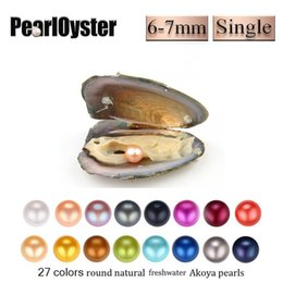 Wholesale 2019 New Product Single Big Round Pearls mm Natural Pearl in Oysters Freshwater Oyster Shell DIY Jewelry For Women party Surprise