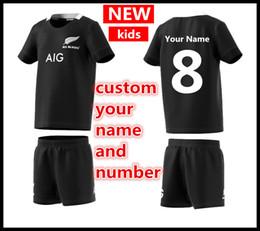 0bbe3d95f0a15 personalice su nombre y número 2019 Nueva Zelanda All Blacks Kids Mini Kit  inicio Rugby Jerseys Super Rugby camiseta All Blacks Kids jersey